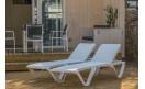 Шезлонг EVA PRO - White frame / white back: фото - магазин CANVAS outdoor furniture.