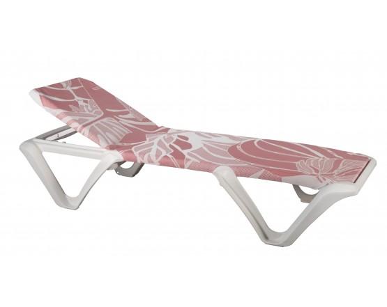Шезлонг Eva Pro - Lara Costafreda - Red Flowers: фото - магазин CANVAS outdoor furniture.