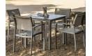 Обеденный стол BRUNEI Blanco 80x80: фото - магазин CANVAS outdoor furniture.