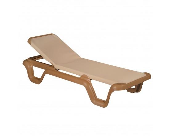 Шезлонг LOLA Prestige cofee: фото - магазин CANVAS outdoor furniture.