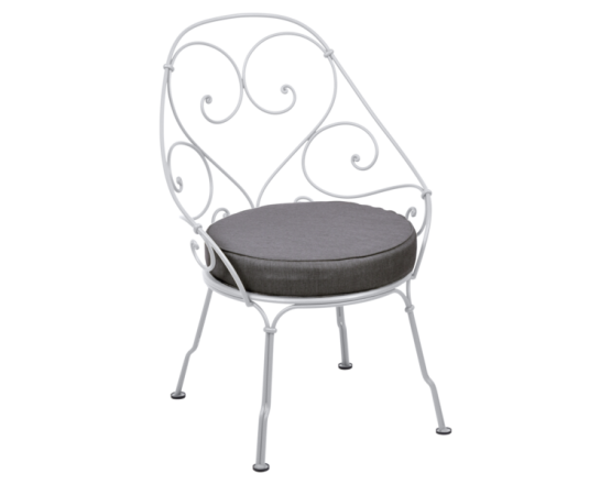 Кресло 1900 Graphite Grey Cabriolet Cotton White: фото - магазин CANVAS outdoor furniture.