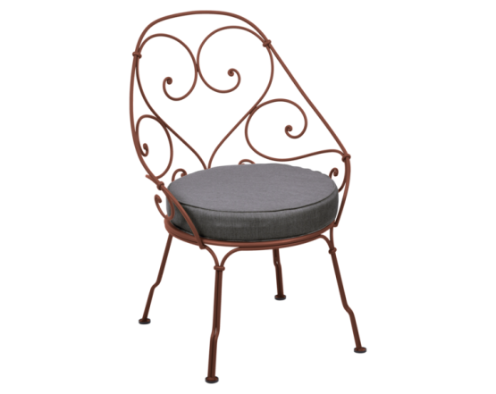 Кресло 1900 Graphite Grey Cabriolet Red Ochre: фото - магазин CANVAS outdoor furniture.