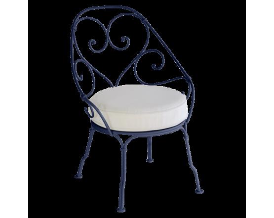 Кресло 1900 Off-White Cabriolet Deep Blue: фото - магазин CANVAS outdoor furniture.
