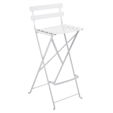 Bistro Foldable Bar Chair Cotton White: фото - магазин CANVAS outdoor furniture.