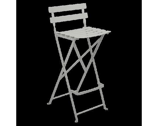 Барный стул  Bistro Foldable Bar Chair Steel Grey: фото - магазин CANVAS outdoor furniture.