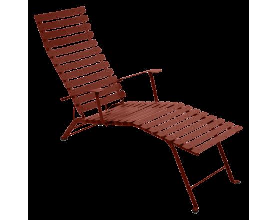 Шезлонг Bistro Chaise Longue Red Ochre: фото - магазин CANVAS outdoor furniture.