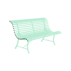 Louisiane Bench 150 Opaline Green: фото - магазин CANVAS outdoor furniture.
