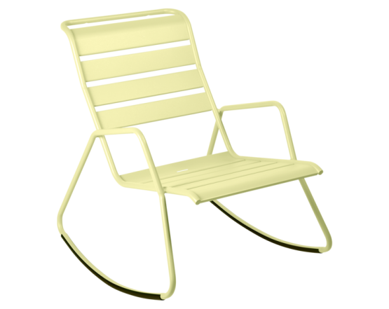 Кресло-качалка Monceau Frosted lemon: фото - магазин CANVAS outdoor furniture.