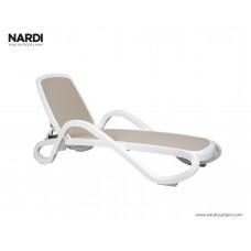Шезлонг Alfa Bianco Tortora: фото - магазин CANVAS outdoor furniture.