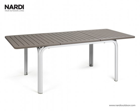 Стол Alloro 140 Extensible Tortora Vern Bianco: фото - магазин CANVAS outdoor furniture.