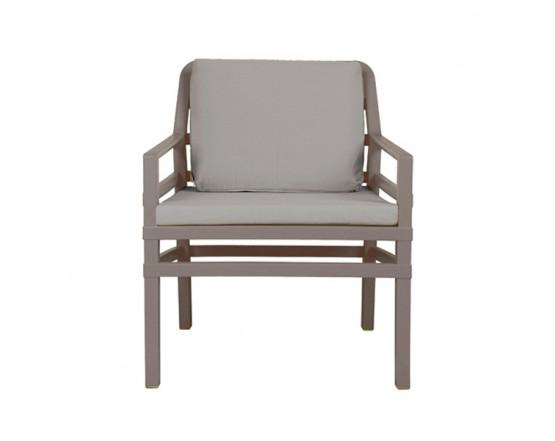 Кресло Aria Tortora Grigio Sunbrella: фото - магазин CANVAS outdoor furniture.