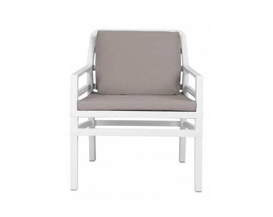 Kресло Aria Bianco Grigio Sunbrella: фото - магазин CANVAS outdoor furniture.
