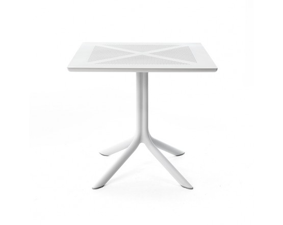 Cтол ClipX 80 Bianco: фото - магазин CANVAS outdoor furniture.