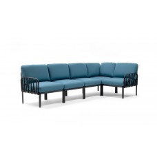 Модульный диван Komodo 5 Antracite Adriatic Sunbrella: фото - магазин CANVAS outdoor furniture.