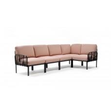 Модульный диван Komodo 5 Antracite Rosa Quarzo: фото - магазин CANVAS outdoor furniture.