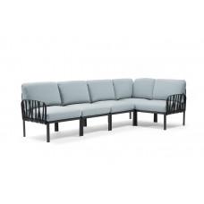 Модульный диван Komodo 5 Antracite Ghiaccio Sunbrella: фото - магазин CANVAS outdoor furniture.