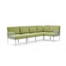 Модульный диван Komodo 5 Bianco Avacado Sunbrella: фото - магазин CANVAS outdoor furniture.