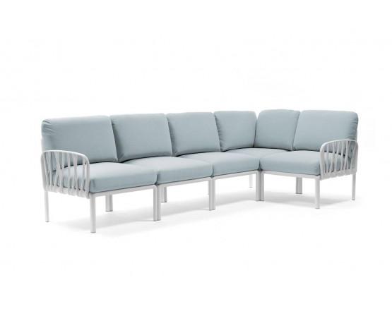 Модульный диван Komodo 5 Bianco Ghiaccio Sunbrella: фото - магазин CANVAS outdoor furniture.