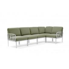 Модульный диван Komodo 5 Bianco Giungla Sunbrella: фото - магазин CANVAS outdoor furniture.
