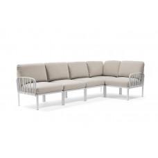 Модульный диван Komodo 5 Bianco Tech Panama: фото - магазин CANVAS outdoor furniture.