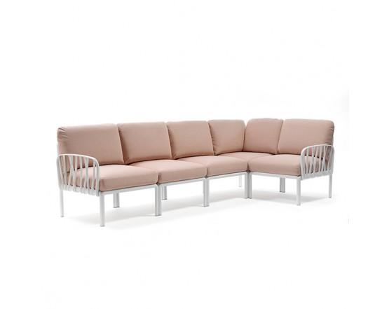 Модульный диван Komodo 5 Bianco Rosa Quarzo: фото - магазин CANVAS outdoor furniture.
