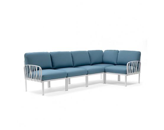 Модульный диван Komodo 5 Bianco Adriatic Sunbrella: фото - магазин CANVAS outdoor furniture.