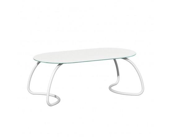 Обеденный стол Loto Dinner 190 Bianco verniciato Bianco: фото - магазин CANVAS outdoor furniture.