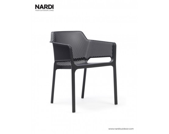 Стул Net Antracite: фото - магазин CANVAS outdoor furniture.