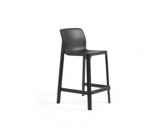 Барный стул  Net Stool Mini Anthracite: фото - магазин CANVAS outdoor furniture.