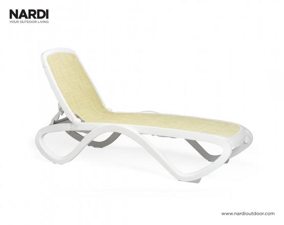 Шезлонг Omega Bianco Beige: фото - магазин CANVAS outdoor furniture.