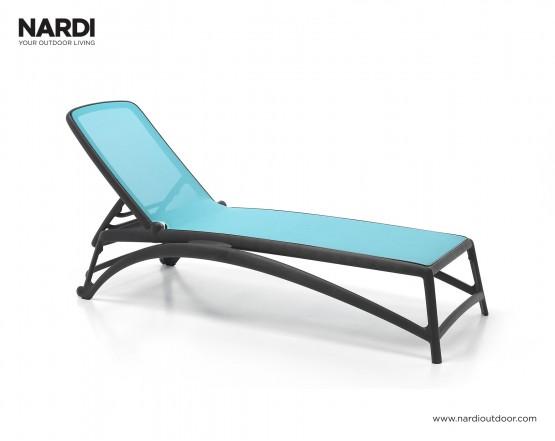 Шезлонг Atlantico Antracite Celeste: фото - магазин CANVAS outdoor furniture.