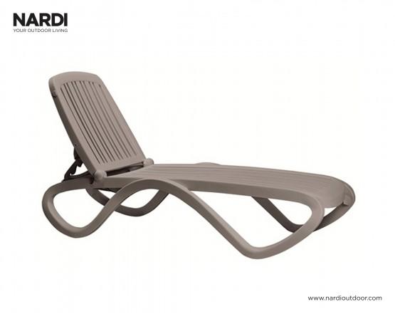 Шезлонг Tropico Tortora: фото - магазин CANVAS outdoor furniture.